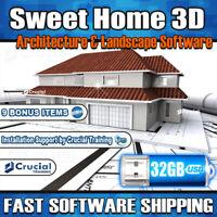 Sweet Home 3D Architect Interior and Landscape Design App Blueprints USB