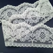 Quality Flat WHITE lace 2in TRIM/CRAFTS 3mts New  DC825810,