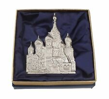 Exclusive Elegant Stylish Sterling Silver St. Basil Cathedral Brooch Pin