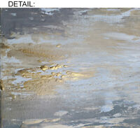 Large Modern Grays & Gold Abstract Painting Contemporar Original Wall Art Canvas