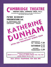 KATHERINE DUNHAM with her Dancers, Singers and Musicians 1952 London Flyer