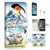 ( For iPhone 7 ) Wallet Case Cover P2995 Penguin
