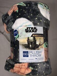 The Big One Gray Soft Throw Blanket 5' x 6 ft  Mandalorian , Baby Yoda