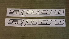 VW SYNCRO x 2 STICKERS DECAL TRANSPORTER T25 T4 T5 CAMPER