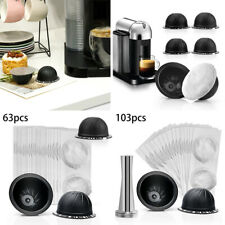 For Nespresso Vertuo Coffee Capsule Cup Tamper Set Reusable Refillable Tool Pack