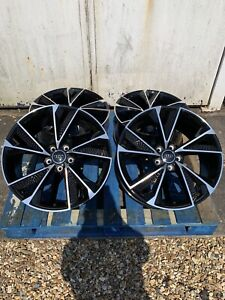 """19"""" New RS7 2020 Style Alloy Wheels Only Black/Polished to fit Audi A4 (B8 & B9)"""