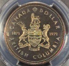 1971 Canada British Columbia Ag Silver Dollar PCGS SP-68, Buy 3 Get $5 Off R6649