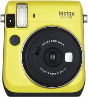 Fujifilm Instax Mini 70 Instant Film Camera with Selfie Mirror - Yellow