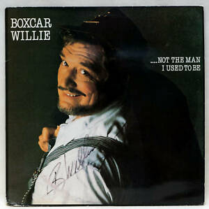 BOXCAR WILLIE Not The Man I Used To Be Autographed Vinyl LP SPLP 002 UK 1983 EX-