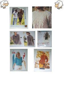 Ladies Jumper Cardigan Coat Dk Chunky Aran Size S-XL Knitting Patterns/Downloads
