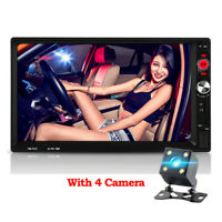 "Car Stereo Radio 2 Din 7"" HD Usb Bluetooth Audio Mp5 FM Player Rear View Camera"