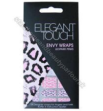 Elegant Touch Envy Wraps Leopard Pinks 18 Designer Nail Wraps
