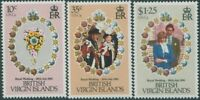British Virgin Islands 1981 SG463-465 Royal Wedding set MNH