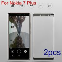 For Nokia 7 Plus Full Cover Tempered Glass 9H Screen Protector Film Shockproof