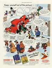 ORIGINAL 1949 AMERICAN MAGAZINE COMIC MOTORING ADVERT DU PONT ANTIFREEZE  b194