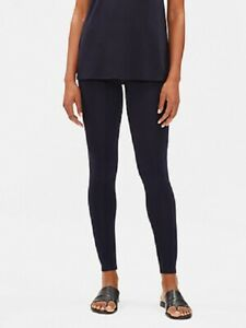 NWT Eileen Fisher MIDNIGHT Viscose Jersey Ankle Leggings 1X $98