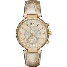 MICHAEL KORS Damen Armbanduhr Uhr Damenuhr gelbgold MK2444 Sawyer Chronograph