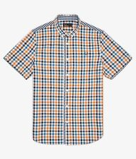 Fred Perry Three Colour Gingham Men's Short Sleeve Shirt Genuine M6399-675