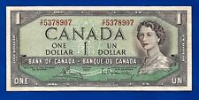 1954 CANADA Canadian ONE 1 DOLLAR BILL NOTE prefix V/F in EF ?