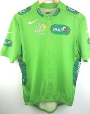Mens Nike Lime Green Tour De France 2008 Racing Cycling T-Shirt Jersey Large