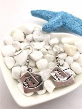 I Love You Letter Earrings Tibet silver Charms Earrings Charm Earrings for Her