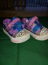 Size 5 Toddler Light Up Sketchers Donut And Sprinkles