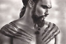 """Game of Thrones Khal Drogo 8x12"""" Stretched Canvas Art Print"""