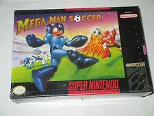 Mega Man Soccer  (Super NES, 1994) Nintendo SNES NEW Factory Sealed *back