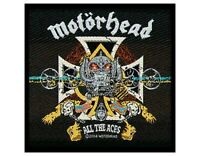 MOTORHEAD all the aces 2004 WOVEN SEW ON PATCH official - no longer made LEMMY