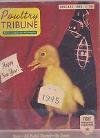 JAN 1945 POULTRY TRIBUNE vintage farm magazine
