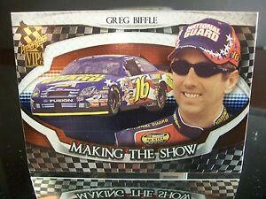 Insert Greg Biffle Press Pass VIP 2006 Card #MS 15/25 MAKING THE SHOW