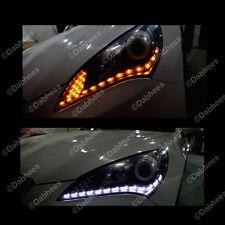 DEVIL EYE HEADLIGHTS White-Amber Switchback DRL LED Headlight **NEW**