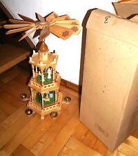 Pyramide ERZGEBIRGE 52cm UNBENUTZT in OVP Weihnachtspyramide 70/80er Jahre DDR