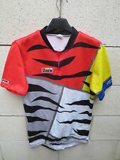 VINTAGE Maillot LOOK zèbre cycling jersey shirt maglia camiseta collection M