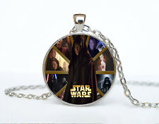 Star Wars Photo Cabochon Glass Tibet Silver Chain Pendant Necklace AAA68