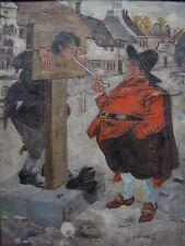 Charles Crombie Original Children's Book Illustration Art Painting Listed Artist