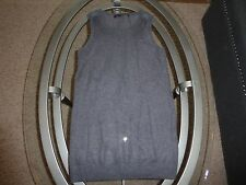 *ALL SAINTS Spitalfields* sz 2 sheer knit gray shimmer tunic top shirt layering