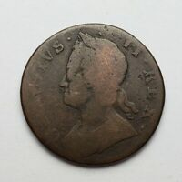 1754 George II Halfpenny Great Britain Colonial Copper