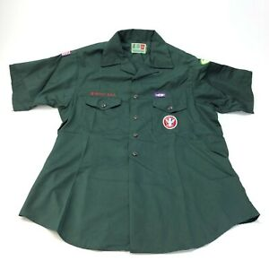 Vintage Boy Scout Explorers Leadership shirt with patches