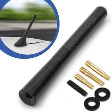 """4.7"""" Universal Black Carbon Fiber Screw Aluminum Car Short Radio Signal Antenna"""