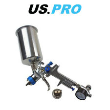 US PRO HVLP Spray Gun With Regulator & 2 Nozzels 1.4 & 2.0mm 1000ml Cup 8776