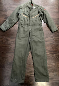 Vintage Big Smith Insulated Farm Mechanic One Piece Suit Mens Size 40 Green Vtg