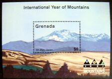 2002 MNH GRENADA YEAR OF THE MOUNTAINS STAMP SOUVENIR SHEET LANDSCAPE SCENERY