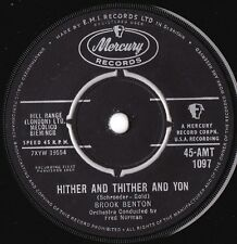 Brook Benton ORIG UK 45 Hither and thither VG+ '60 Mercury AMT1097 R&B Pop Rock