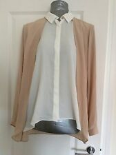 Dorothy Perkins Size 18 Stone Double Layer Shirt