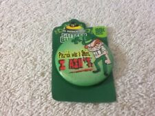 Vintage St Patricks Day Gutter Button Says Patrick Was A Saint I Aint pin Cool