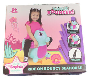 Waddle Friends Bouncer Bounce on Sophia Seahorse Ride Inflatable  2+years New