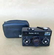 Rollei 35 S Vintage 35mm Compact Film Camera W/ Rollei-HFT 40mm 2.7 & Case, READ