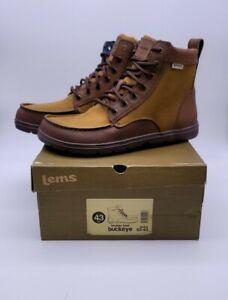 NEW IN BOX LEMS Boulder Boots Minimalist Hiking Shoes Buckeye Men's Sz 43 / 9.5