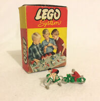 LEGO System Set 270 Cyclists / Motorcyclists Vintage 1950s Boxed Incomplete Rare